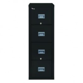Fireking Patriot 4P1831-C Letter 1 Hour Fire Rated File Cabinet - Black