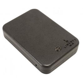 Liberty HD-50 Very Small Pistol Safe and Cable with Key Lock - Closed