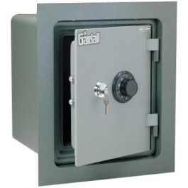 "Gardall WMS129-G-CK Insulated Wall Safe with Flange and U.L. One Hour Fire Rated and ""Key and Combination"" Lock"