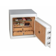 NEW VERSION - Open Gardall JS1718 Boltable Jewelry Safe with Re-Locking and 10 Drawers - Open Side View
