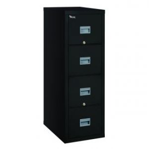 Fireking Patriot 4P2131-C Legal 1 Hour Fire Rated File Cabinet  - Black